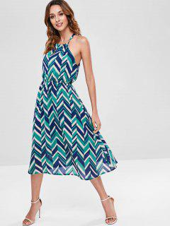 Zigzag Midi Dress - Multi L