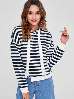 Striped Cutout Hoodie - Multi L