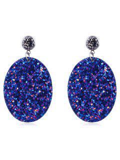 Pendientes De Gota De Agua De Diamantes De Imitación - Azul Oscuro De Denim