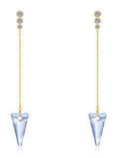 Pendientes Colgantes De Cristal De Triángulo De Cadena - Ángel Azul