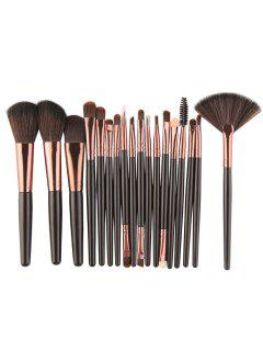 Professional 18Pcs Ultra Soft Silky Cosmetic Brush Suit - Black