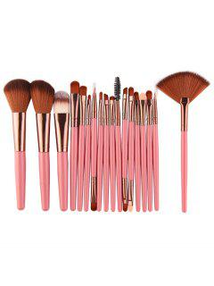 Professional 18Pcs Ultra Soft Silky Cosmetic Brush Suit - Light Pink