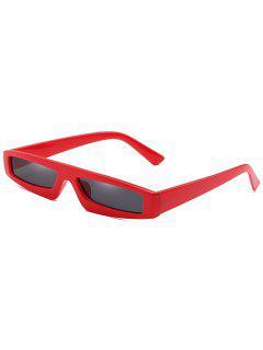 Statement Small Rectangle Sun Shades Gafas De Sol - Rojo