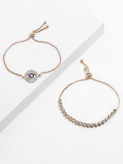 Ensemble De Bracelets Strass Oeil Design - Or