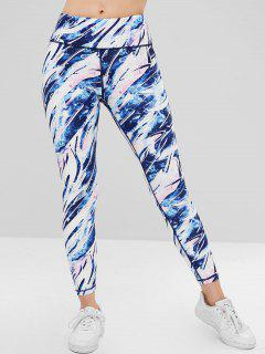 ZAFUL Colored High Waisted Sports Leggings - Multi-a L