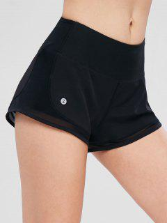 ZAFUL Layered Mesh Insert Sports Shorts - Black M