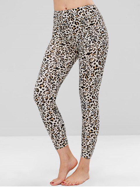hot Leopard Print Soft Ankle Leggings - LEOPARD ONE SIZE Mobile