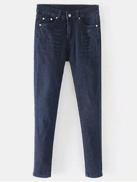 Gerade Dark Wash Jeans - Denim Dunkelblau L Mobile
