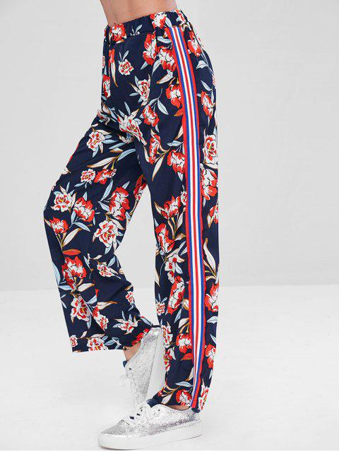Pantalones Palazzo floral a rayas laterales - Multicolor M Mobile