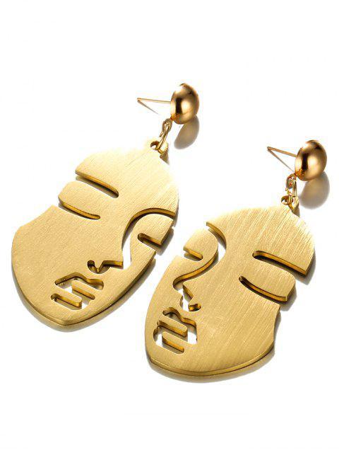 Punk -Menschliches-Gesicht- Legierung- Fallen- Ohrringe - Gold  Mobile
