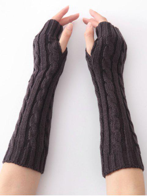 Infinity Crochet Knitted Arm Warmers - Delfín Gris  Mobile