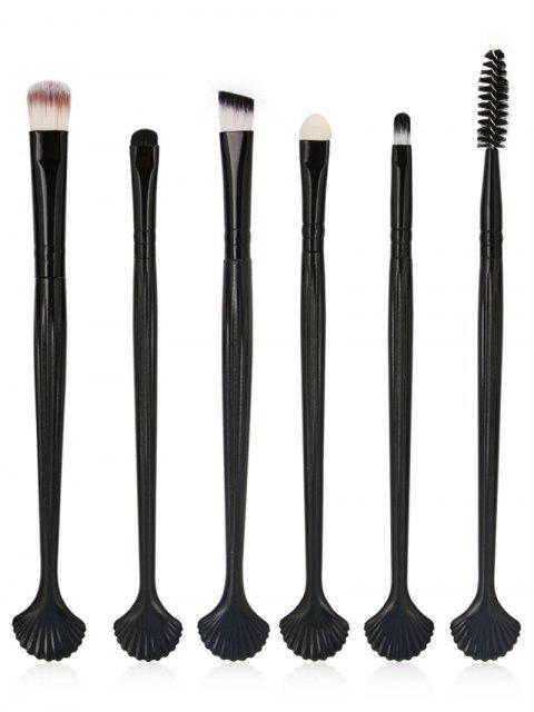buy 6Pcs Shell Shaped Eyeshadow Eyebrow Blending Cosmetic Brush Suit - BLACK  Mobile