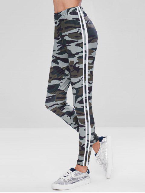 Pantalon Collant Camouflage Rayure Latérale - Multi M Mobile