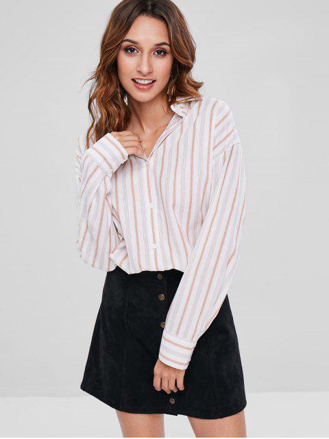 Chemise Rayée Haute Basse - Blanc Taille Unique Mobile