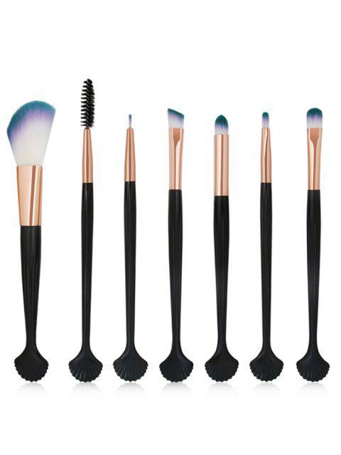 women's 7Pcs Shell Shaped Eyeshadow Blending Eyebrow Makeup Brush Suit - ROSE GOLD  Mobile