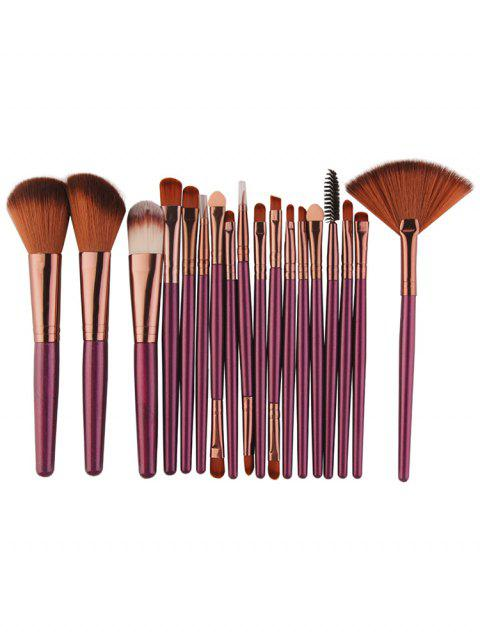 lady Professional 18Pcs Ultra Soft Silky Cosmetic Brush Suit - PURPLE JAM  Mobile