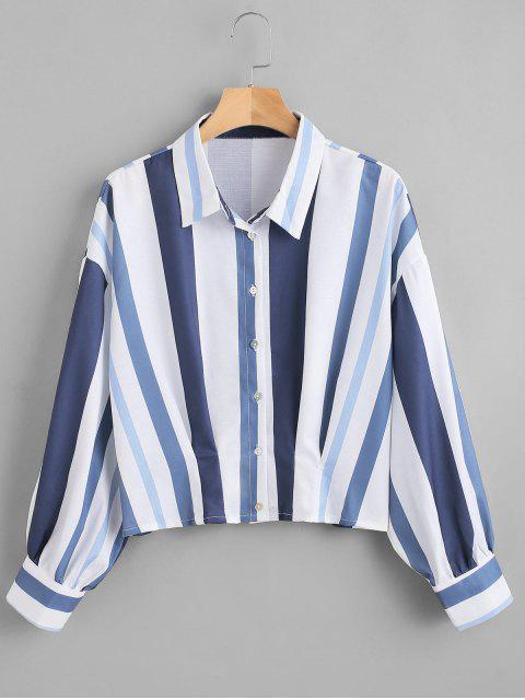 sale Dropped Shoulder Striped Shirt - MULTI M Mobile