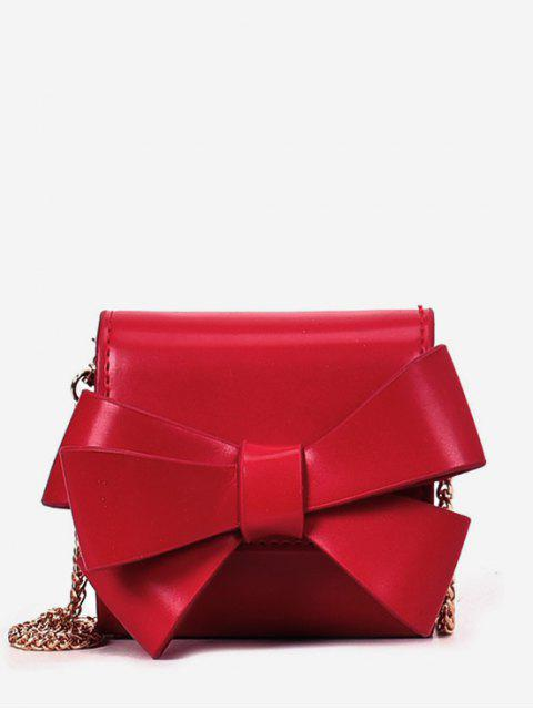 Bolso bandolera con cadena de lazo macizo - Rojo  Mobile