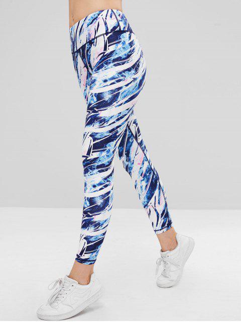Leggings deportivos de talle alto de color ZAFUL - Multicolor-A M Mobile