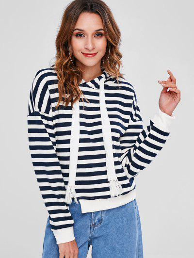 Striped Cutout Hoodie - Multi S