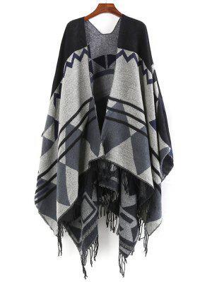 Einzigartiger Schal mit Fransen übergroßem Schal