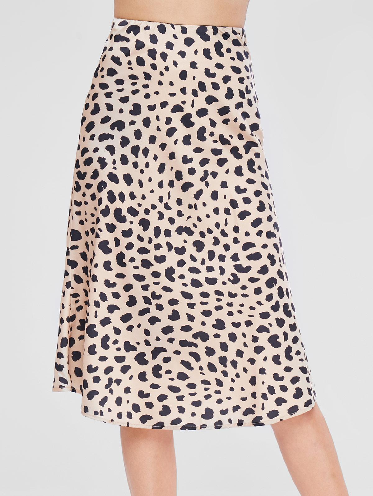 High Waist Leopard Skirt thumbnail