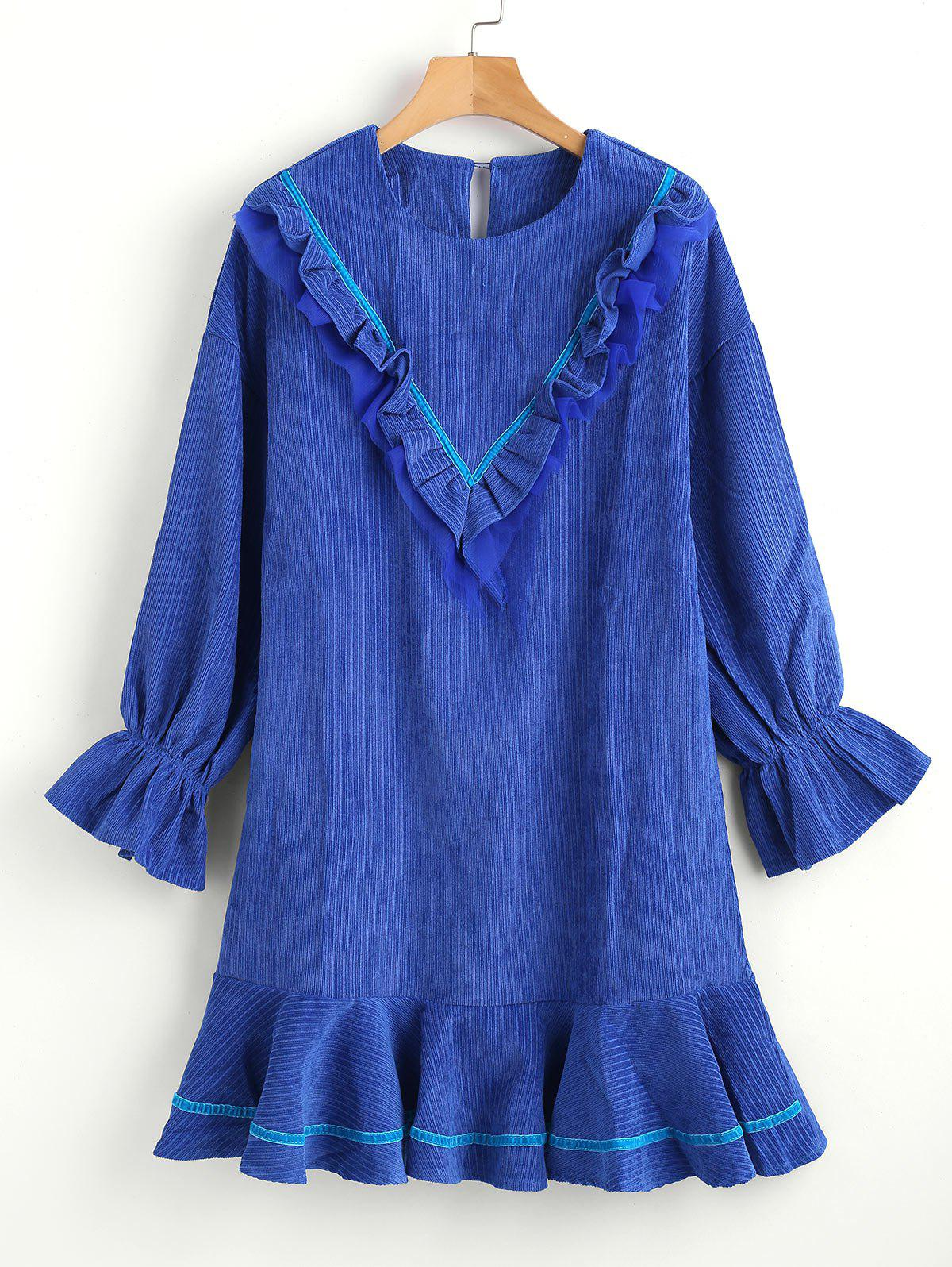 Ruffle Drop Waist Dress