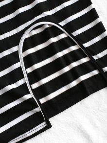 Rayas Negro A Vestido Recorte S xaawZ