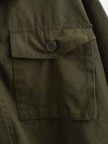 Verde o Shake 233;rcito Bolsillos Tama De Gran De Ej Utilidad Del L Camisa qfxwZS8
