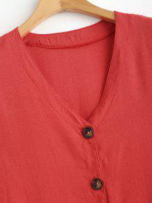 De Xl V Cuello 237;n Valent Con En Delantero Rojo Vestido wYFzqF