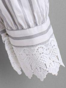 Botones Blanco De Camisa Rayas De A Ganchillo 5x4OqAYw
