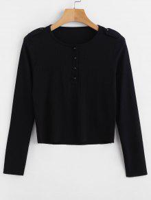 Negro Slim Abotonada Negro Camiseta Slim Abotonada Camiseta S S S Negro Camiseta Camiseta Abotonada Slim nOC7OwTgqx