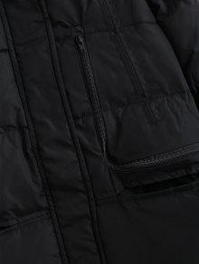 233;tica L Abrigo Sint Acolchado Negro De De Piel Forro Con Invierno xxY7qwBg