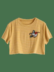 Con P Amarillo M Aplicaci 243;n A Rayas 225;jaro Camiseta De d8UIdq