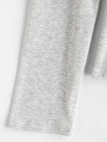 En Con 237;os Volantes Camiseta Gris Hombros Xl Claro Fr RvEFqn