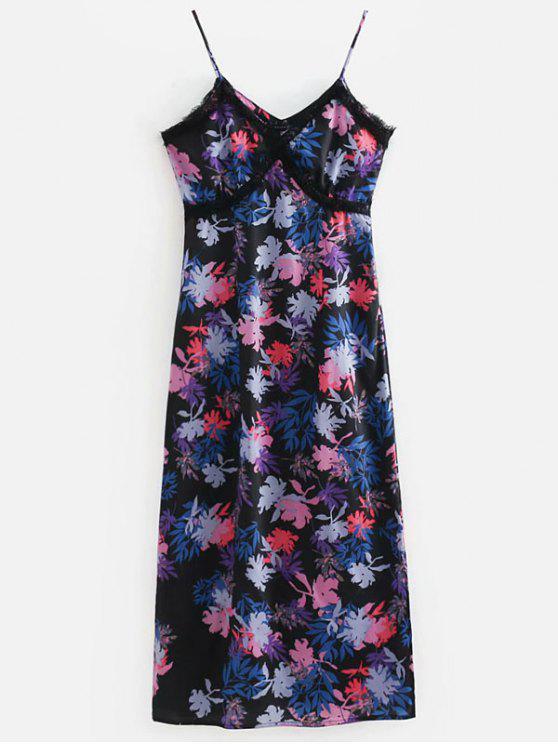 فستان شيفون بحواف كشكش - متعدد L