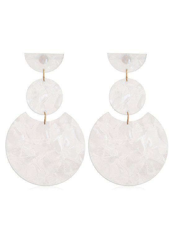 unique Round Design Simple Drop Earrings - WHITE