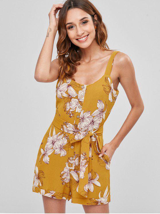 مربوط زر الزهور رومبير - نحلة صفراء XL