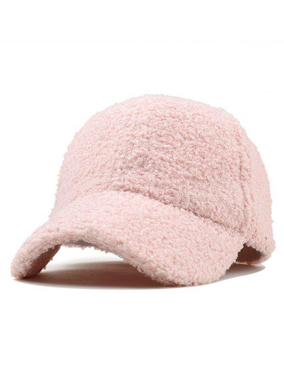 2019 Vintage Solid Color Fuzzy Baseball Cap In LIGHT PINK  3e2218de5ec