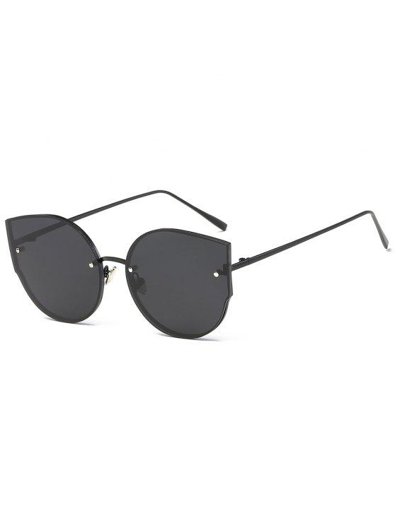 affordable UV Protection Flat Lens Catty Sunglasses - BLACK