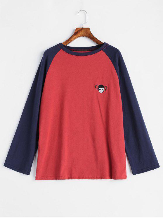 Stickerei-Baseball-T-Shirt - Multi Eine Größe