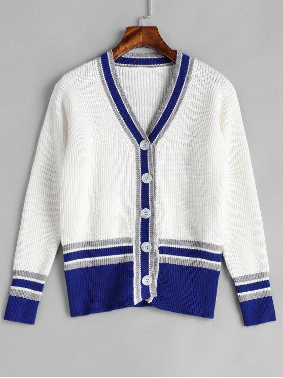 shop Button Up Cricket Cardigan - WHITE ONE SIZE