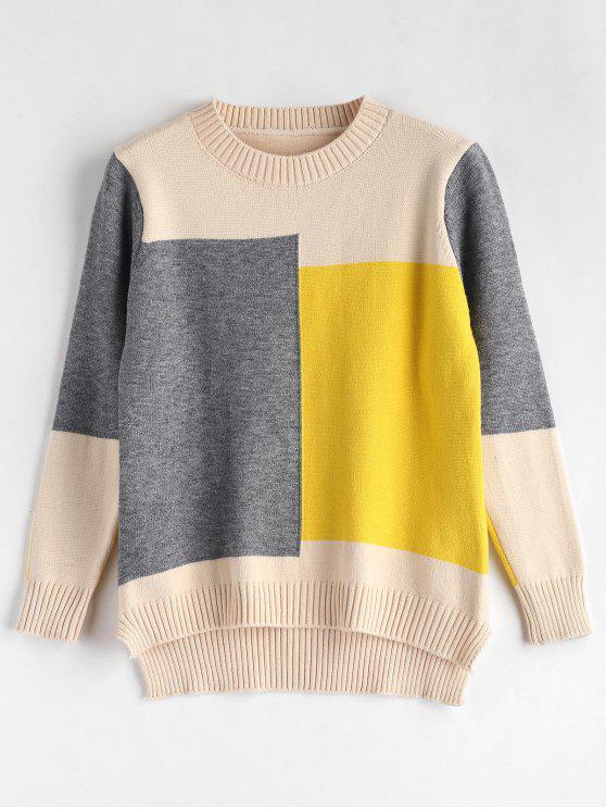 Suéter de color block - Multicolor Talla única