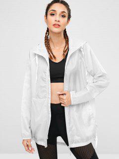 Hooded Windbreaker Jacket - Platinum S