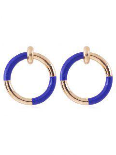 Boucles D'oreilles Uniques à Blocs De Couleurs - Bleu Foncé Toile De Jean