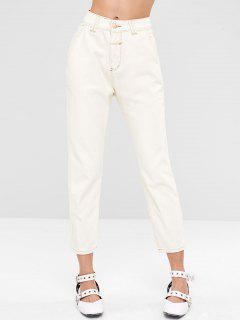Casual Boyfriend Pocket Jeans - White L