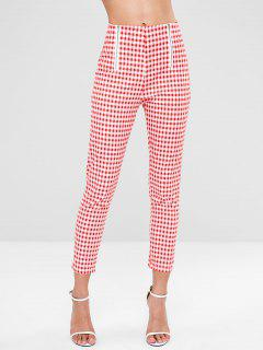 Zippered Gingham Pants - Multi Xl