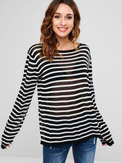 Striped Knit Tunic Top - Multi