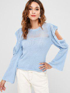 Cold Shoulder Sweater - Himmelblau