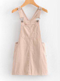 Vestido Mini Pinafore - Rosa Claro M